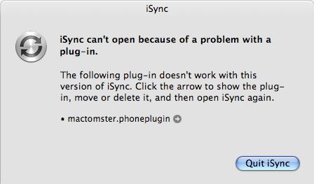 iSync error